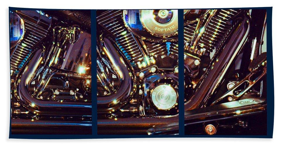 Harley Davidson Hand Towel featuring the photograph Mechanism by Steve Karol