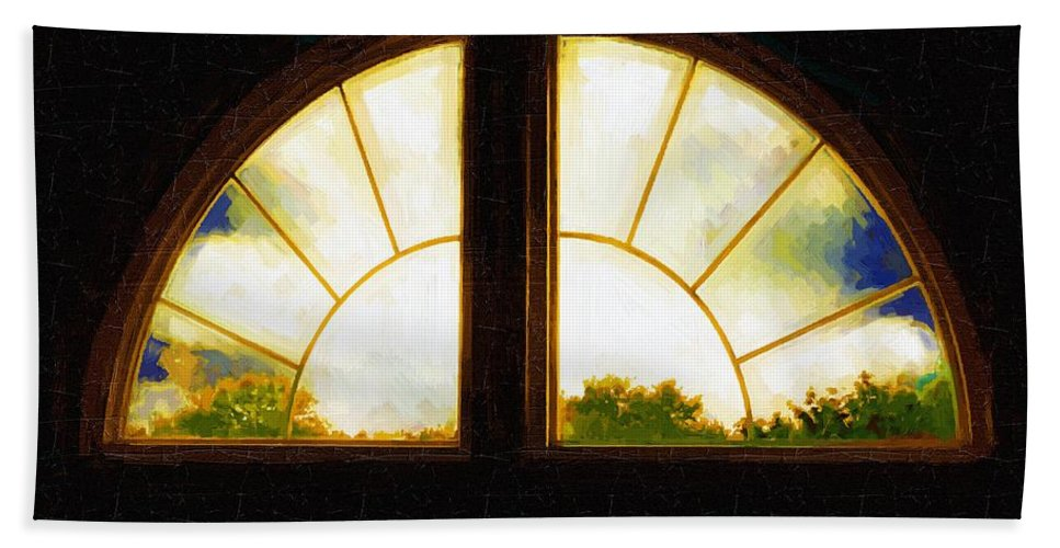 Afternoon Hand Towel featuring the painting Medieval Primitive by RC DeWinter