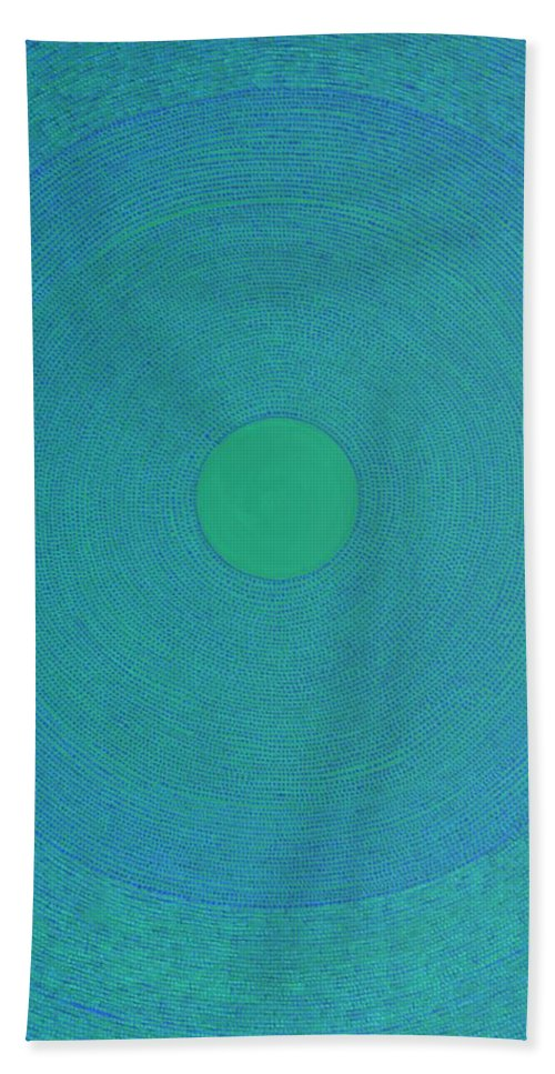 Modern Bath Sheet featuring the painting Meditation 2 by Kyung Hee Hogg