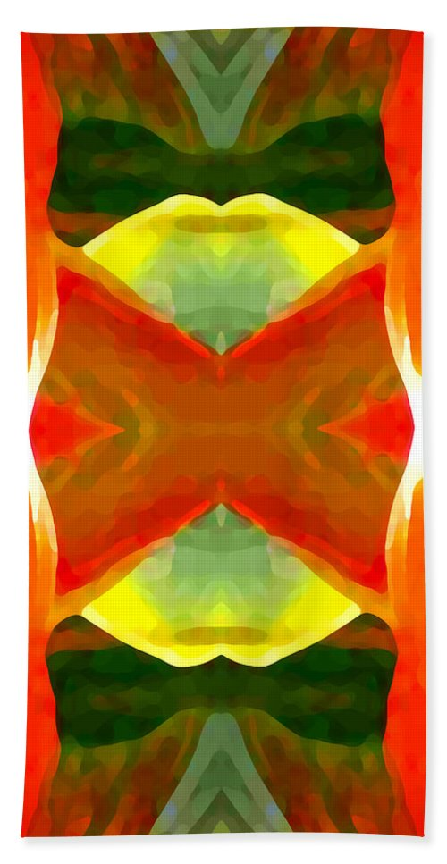 Abstract Hand Towel featuring the painting Meditation by Amy Vangsgard