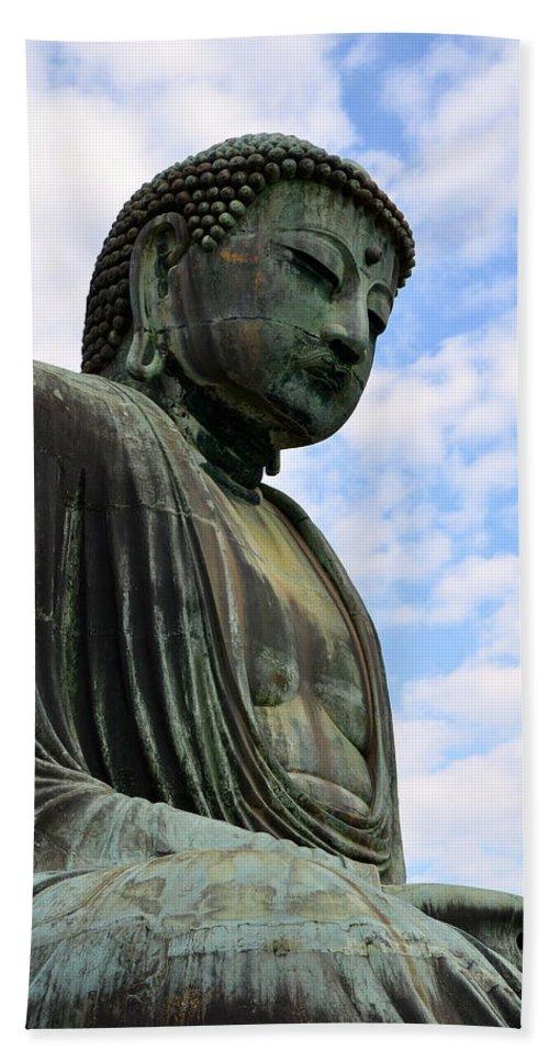 Grand Buddha Bath Sheet featuring the photograph Meditation by Corinne Rhode