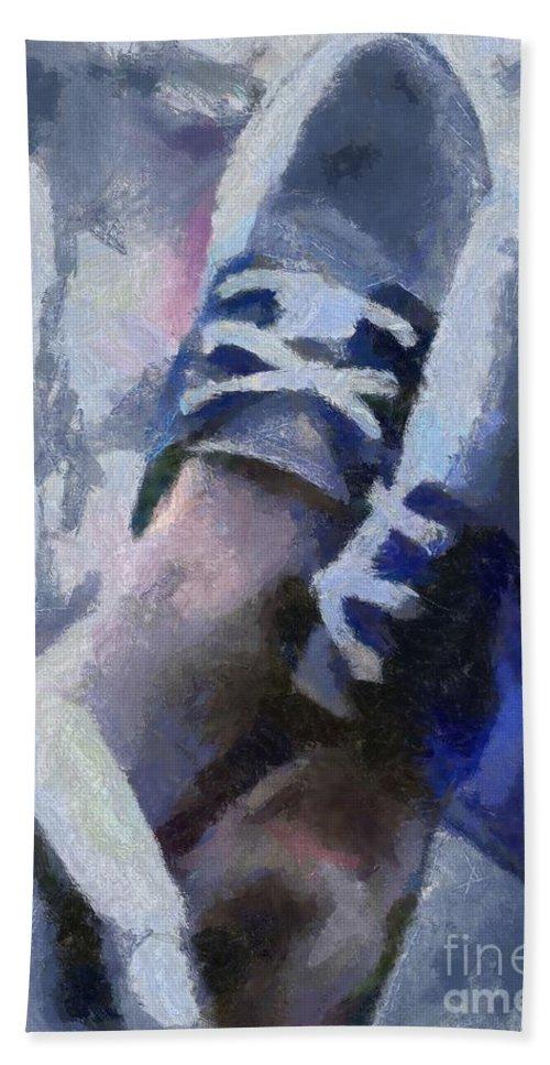 Legs Bath Sheet featuring the painting Mediterranean Siesta by Dragica Micki Fortuna