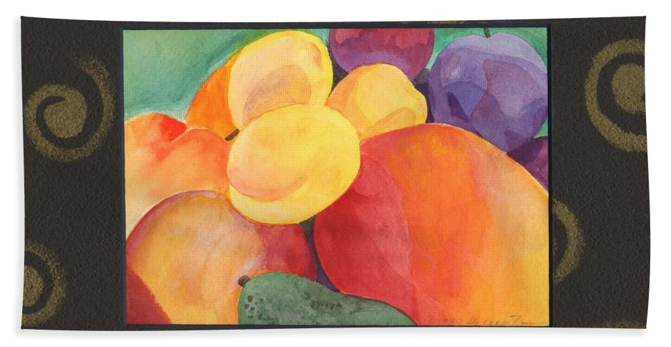 Fruit Hand Towel featuring the painting Medley by Helena Tiainen