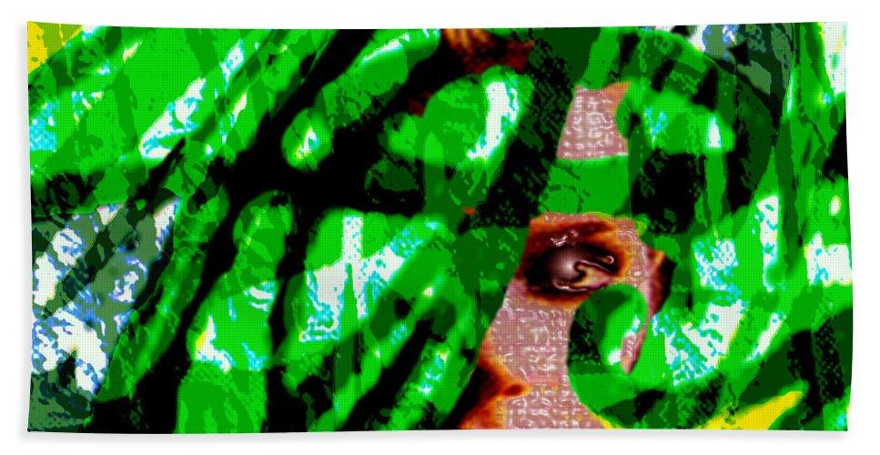 Abstract Bath Sheet featuring the digital art Medusa 1-26 by Seth Weaver