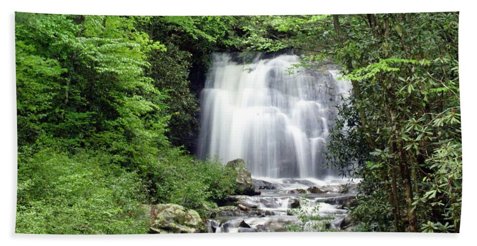Meigs Falls Hand Towel featuring the photograph Meigs Falls by Marty Koch