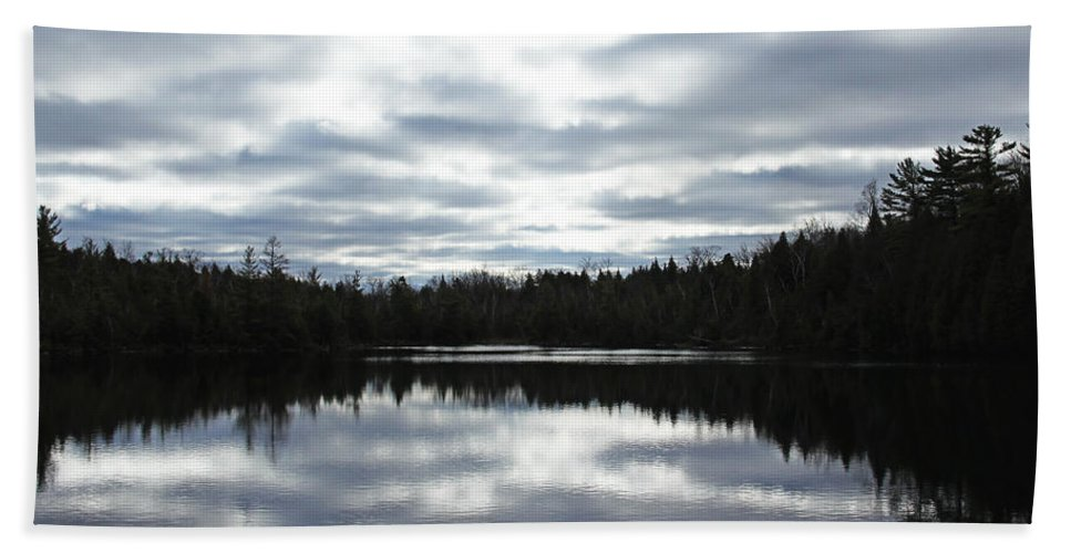 Crawford Lake Bath Sheet featuring the photograph Melancholy Reflections by Debbie Oppermann