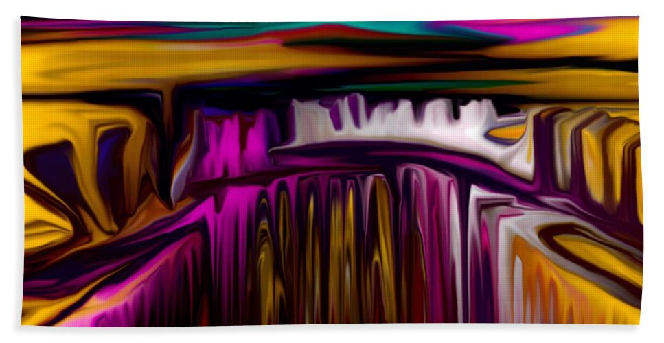 Abstract Hand Towel featuring the digital art Melting by David Lane