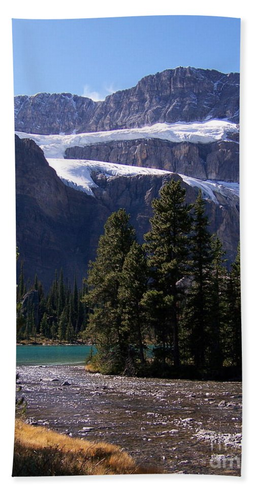 Meltwater Hand Towel featuring the photograph Meltwater by Greg Hammond