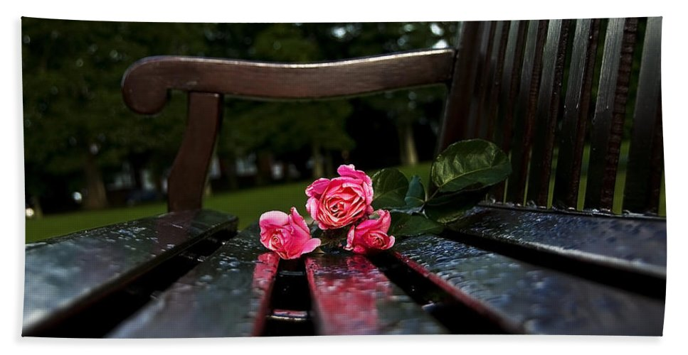 Bench Hand Towel featuring the photograph Memmory... by Svetlana Sewell