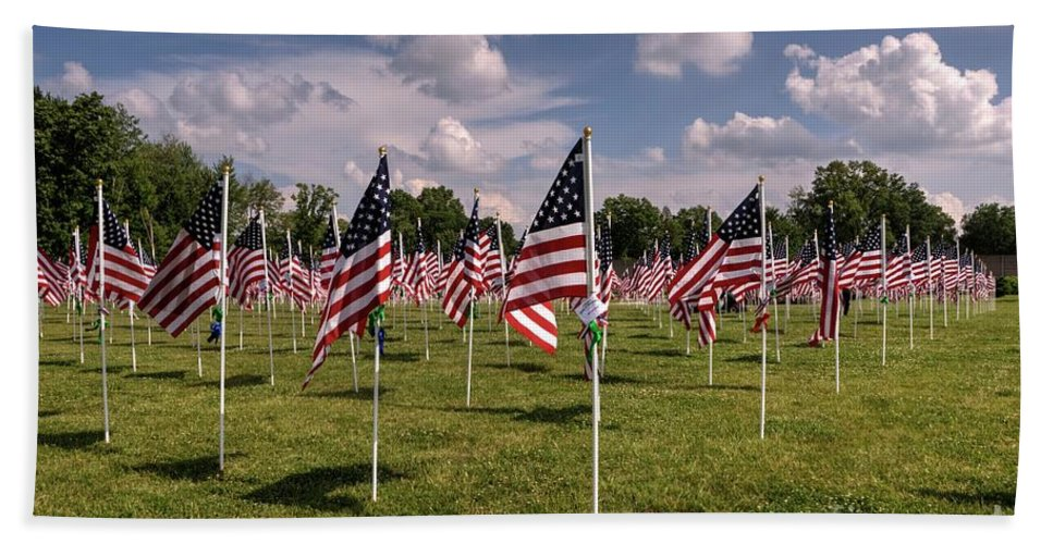 Memorial Day Bath Sheet featuring the photograph Memorial Day 2017 by Paul Lindner
