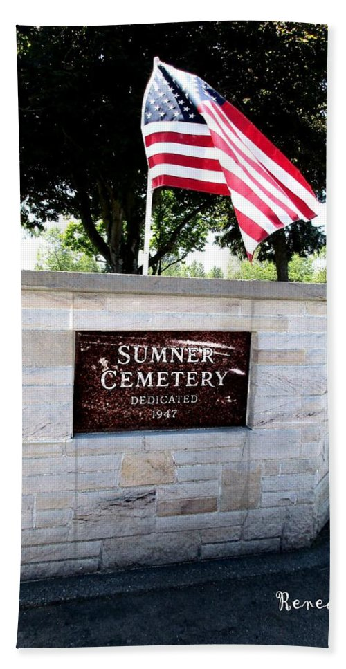 Cemetery Bath Sheet featuring the photograph Memorial Day 2017 - Sumner W A Cemetery by Sadie Reneau