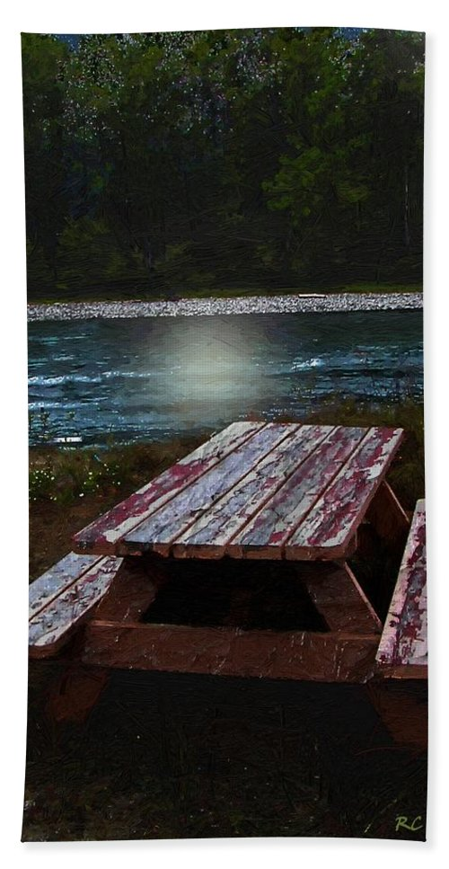 Autumn Bath Sheet featuring the painting Memories Of Summers Past by RC DeWinter
