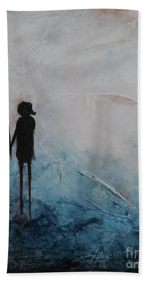 Art Hand Towel featuring the painting Memories Of Us #1 by Bradley Carter