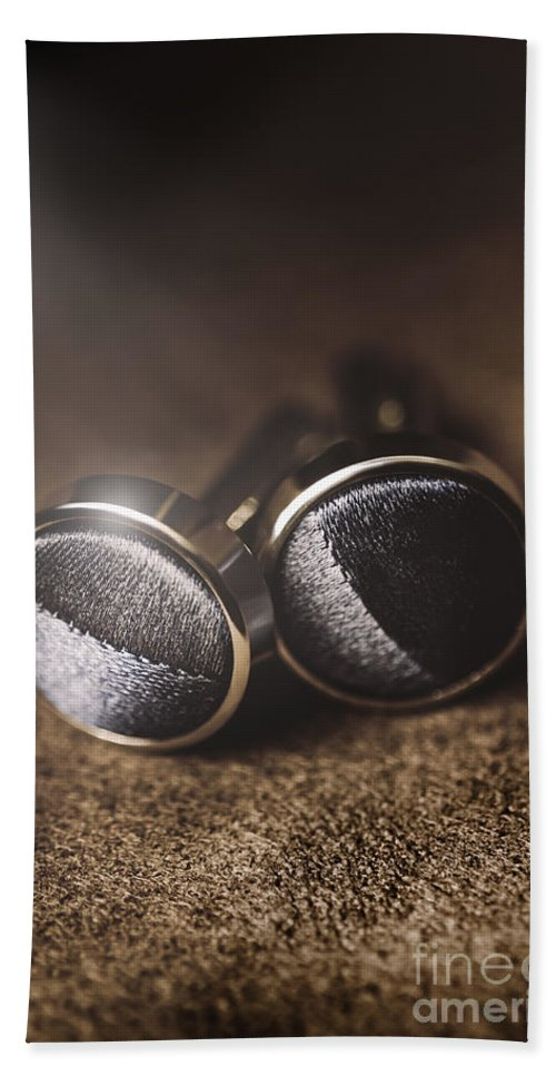 Fashion Hand Towel featuring the photograph Mens Formalwear Cufflinks by Jorgo Photography - Wall Art Gallery