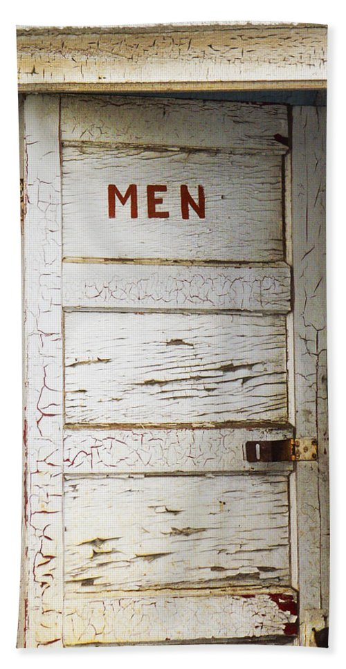 Men's Room Bath Sheet featuring the photograph Men's Room by Marilyn Hunt