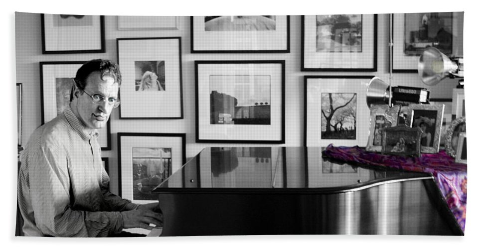 Piano Playing Bath Sheet featuring the photograph Mephistos Waltz by Madeline Ellis