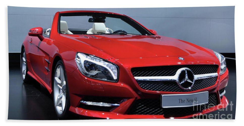 Sl Bath Sheet featuring the photograph Mercedes Benz Sl by Ronald Grogan
