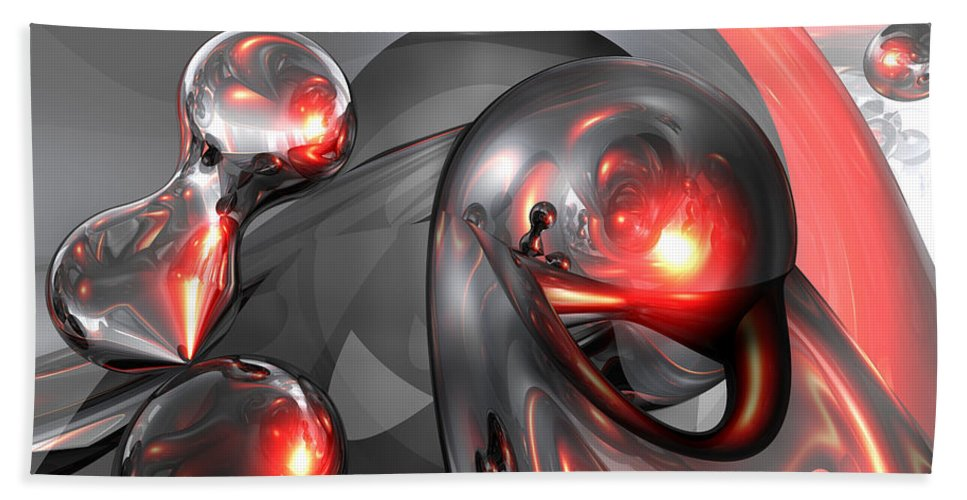 3d Hand Towel featuring the digital art Mercury Rising Abstract by Alexander Butler