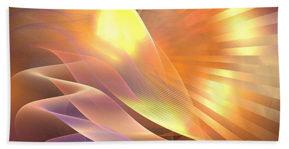 Apophysis Hand Towel featuring the digital art Mercury Sand Dunes by Kim Sy Ok
