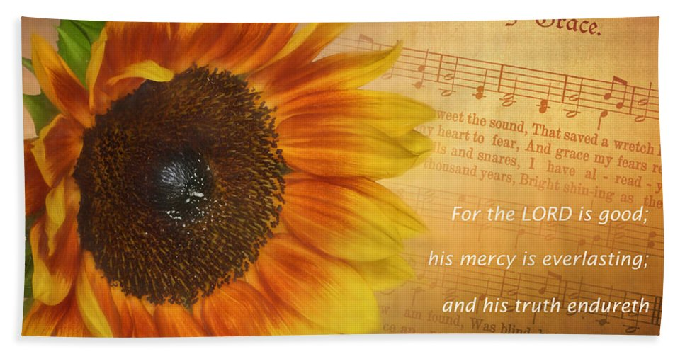 Belief Hand Towel featuring the photograph Mercy And Grace by David and Carol Kelly