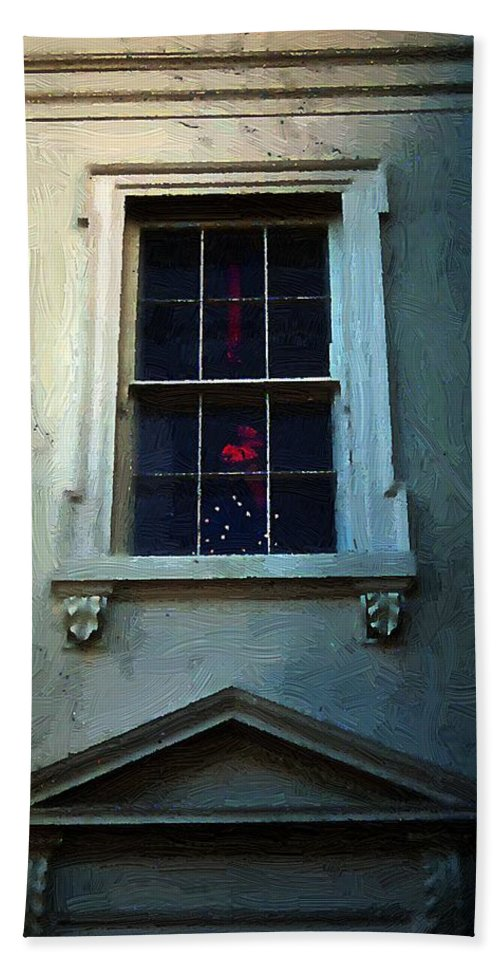 America Hand Towel featuring the painting Merry Christmas America by RC DeWinter