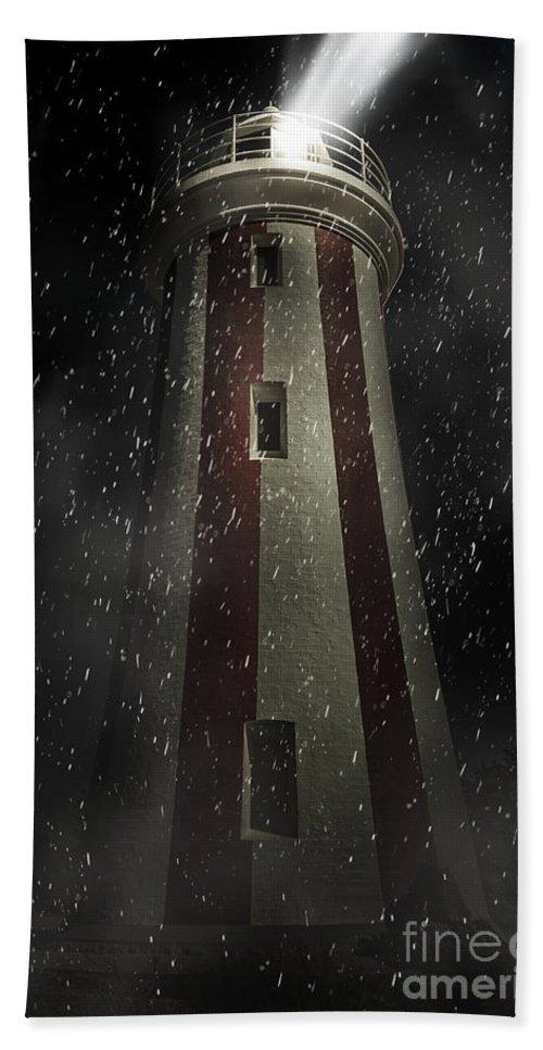 Lighthouse Bath Towel featuring the digital art Mersey Bluff Lighthouse In Devonport. Fine Art by Jorgo Photography - Wall Art Gallery