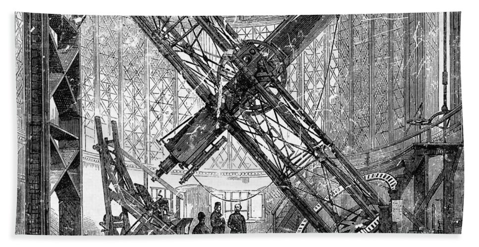 Historic Hand Towel featuring the photograph Merz Telescope, Royal Observatory by Wellcome Images