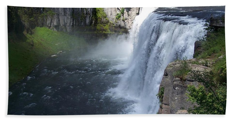 Landscape Hand Towel featuring the photograph Mesa Falls by Gale Cochran-Smith