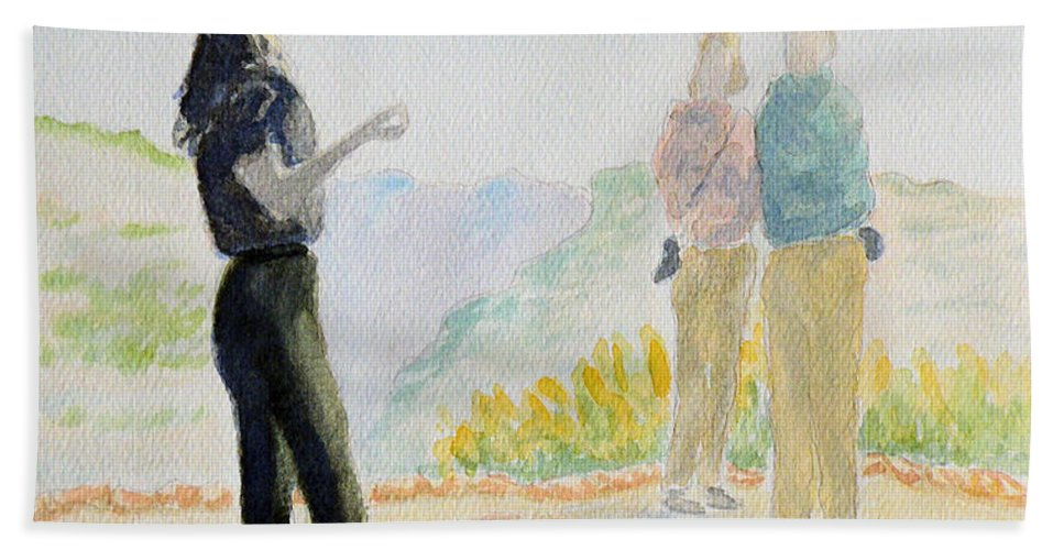 Painting Bath Sheet featuring the painting Mesa Verde Ranger by Gilbert Pennison