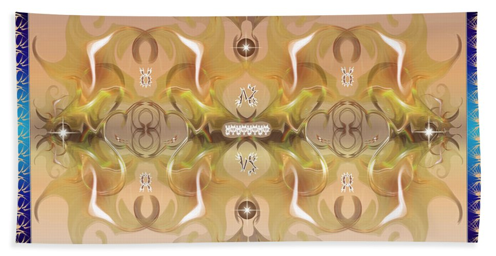 Fantasy Bath Towel featuring the digital art Message From Space by George Pasini