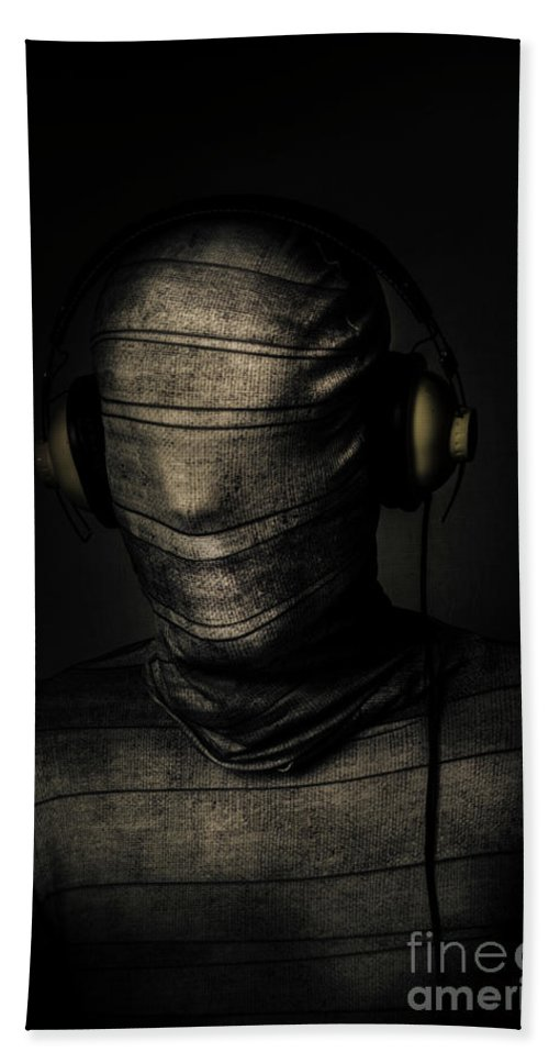 Death Hand Towel featuring the photograph Metal Monster Mummy by Jorgo Photography - Wall Art Gallery