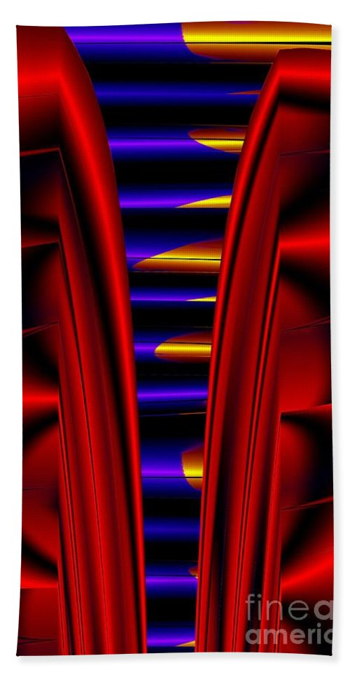 Metal Hand Towel featuring the digital art Metal Ribs by Ron Bissett