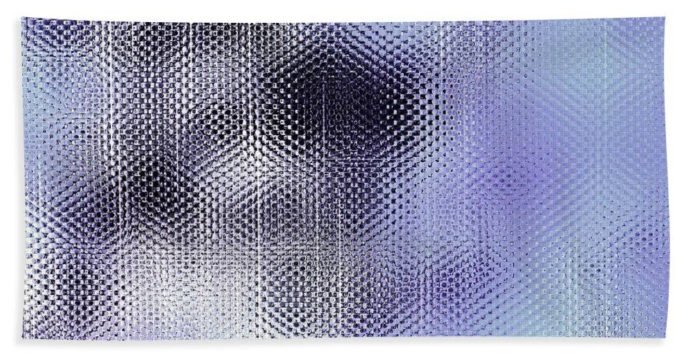 Abstract Hand Towel featuring the digital art Metallic Weaving Pattern by Danuta Bennett