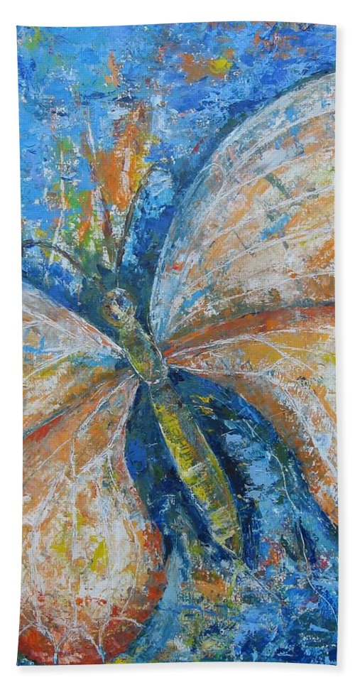 Painting Bath Sheet featuring the painting Metamorfozy I by Stella Velka