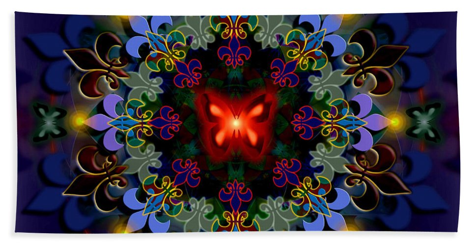 Spiritual Bath Sheet featuring the digital art Metamorphosis Dream II by Stephen Lucas