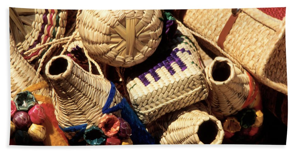 Mexico Bath Sheet featuring the photograph Mexican Baskets by Jerry McElroy