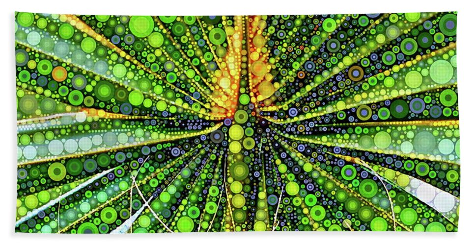 Mexican Hand Towel featuring the digital art Mexican Fan Palm Leaf by Dana Roper