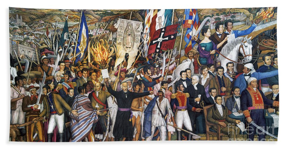 1810 Hand Towel featuring the photograph Mexico: 1810 Revolution by Granger