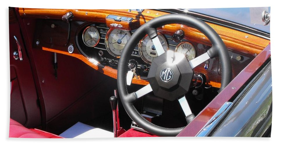 Mg Bath Sheet featuring the photograph Mg Dashboard by Neil Zimmerman