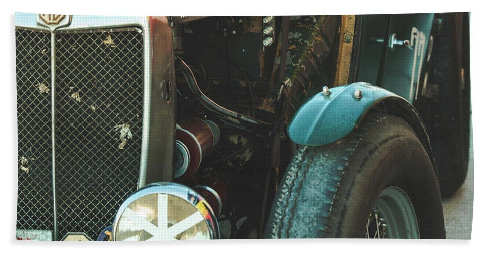 Mg Hand Towel featuring the photograph Mg-tc Racer by David Natho
