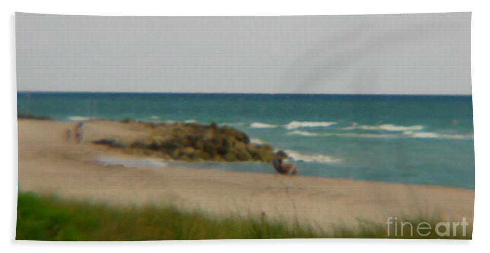 Miami Hand Towel featuring the photograph Miami by Amanda Barcon