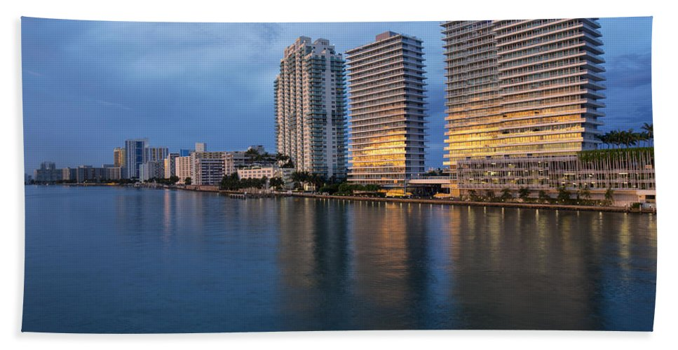 Miami Bath Sheet featuring the photograph Miami by Baptiste De Izarra