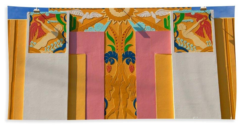 Miami Beach Florida Bath Sheet featuring the photograph Miami Beach Art Deco by David Lee Thompson