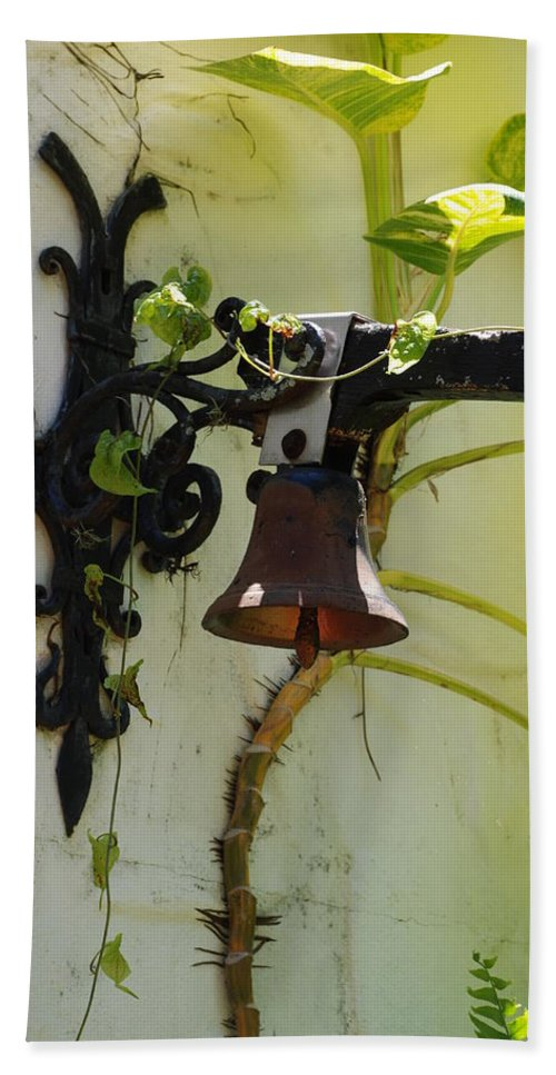 Architecture Hand Towel featuring the photograph Miami Monastery Bell by Rob Hans