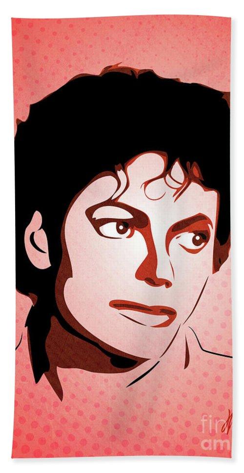Digital Hand Towel featuring the digital art Michael Jackson - Thriller - Pop Art by William Cuccio aka WCSmack