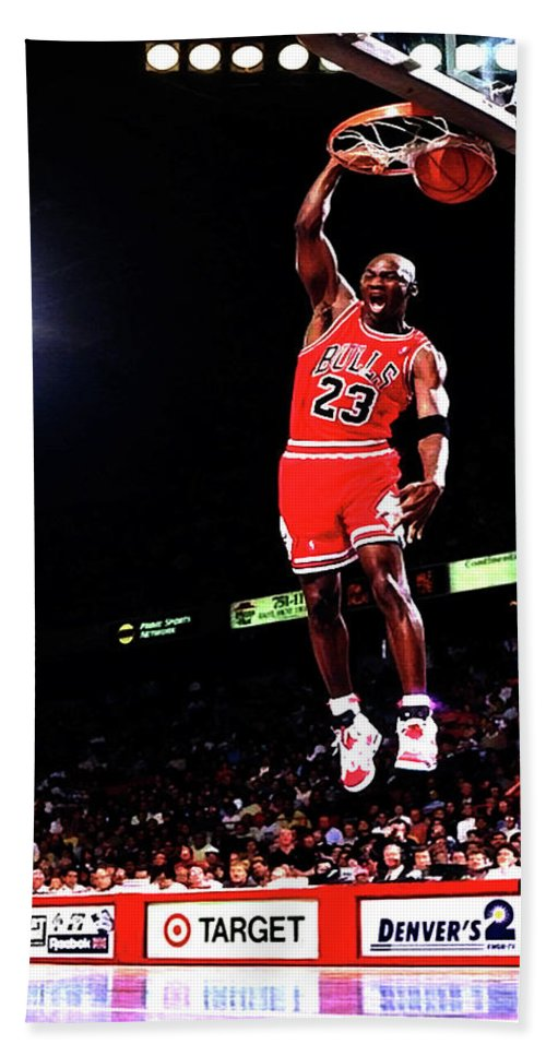 97a0897443b Michael Jordan 23f Hand Towel for Sale by Brian Reaves
