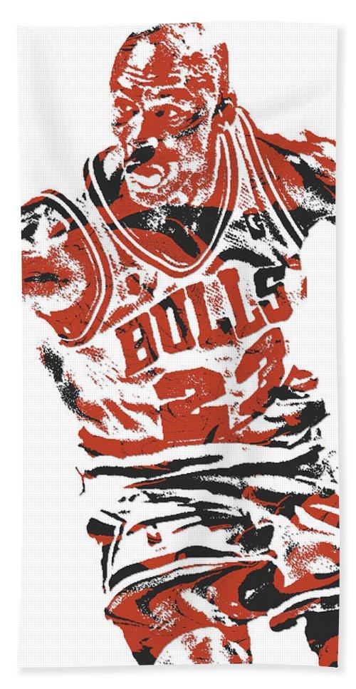 f4980ad6aae Michael Jordan Chicago Bulls Pixel Art 15 Hand Towel for Sale by Joe  Hamilton