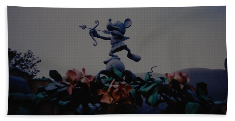 Micky Mouse Hand Towel featuring the photograph Mickey Mouse by Rob Hans