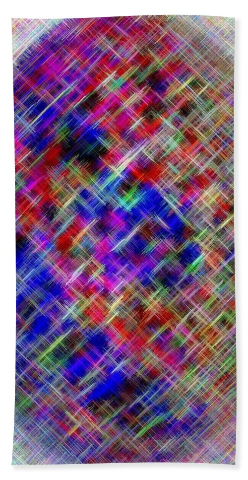 Micro Linear Bath Sheet featuring the digital art Micro Linear 4 by Will Borden