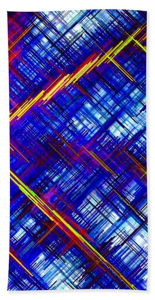 Micro Linear Bath Sheet featuring the digital art Micro Linear 6 by Will Borden